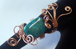 copper wrapped stone bead